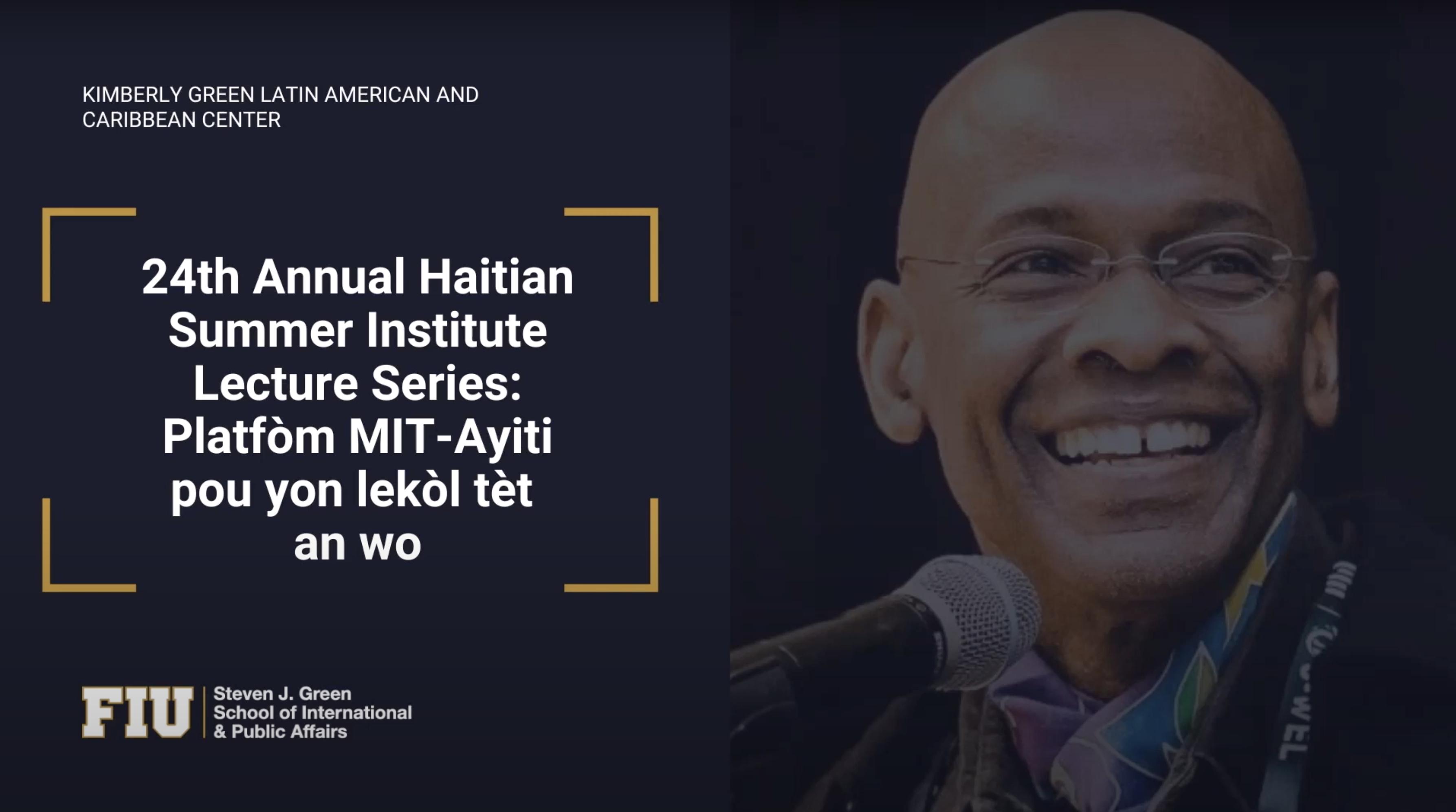 Konferans Michel DeGraff konsènan Platfòm MIT-Ayiti